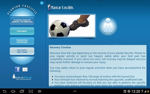 Plantar Fasciitis Tablet App screenshot 4
