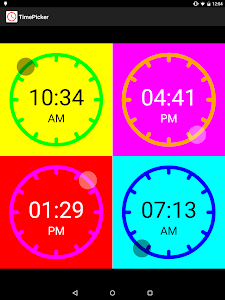TimePicker screenshot 2