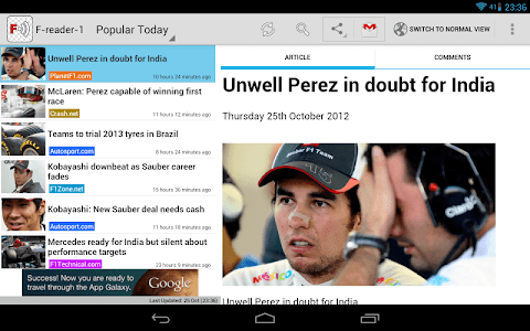 Freader1 - Formula Racing News screenshot 7