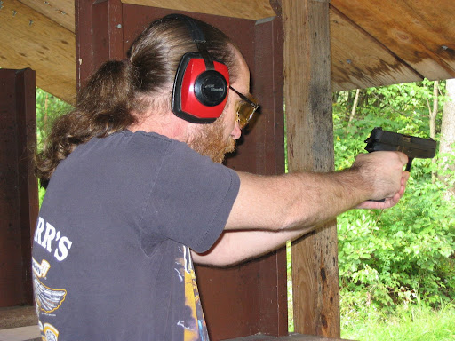 Bill with the Colt 1991A1 having fun.