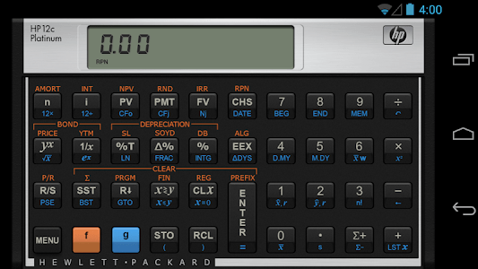 HP 12C Platinum Calculator screenshot 0