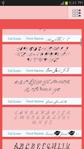 50 Love Fonts Style screenshot 1