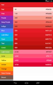 Material-Design-Colors screenshot 2