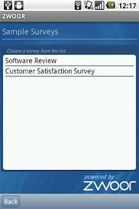 Zwoor Survey screenshot 2
