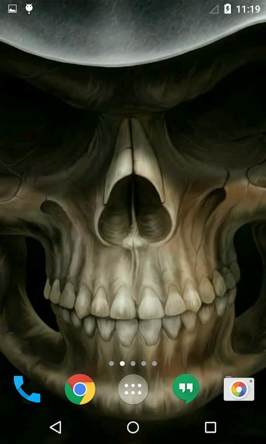 Moveing 3d Wallpaper Skull