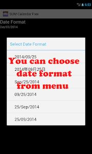 SUM Calendar Free screenshot 7