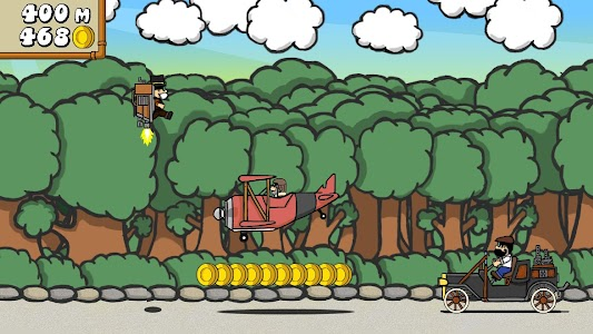 Dr. Gentleman's Jetpack Run screenshot 4