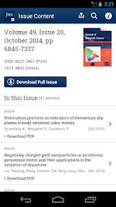 Journal of Material Science screenshot 3