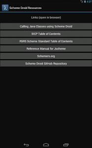 Scheme Droid screenshot 3