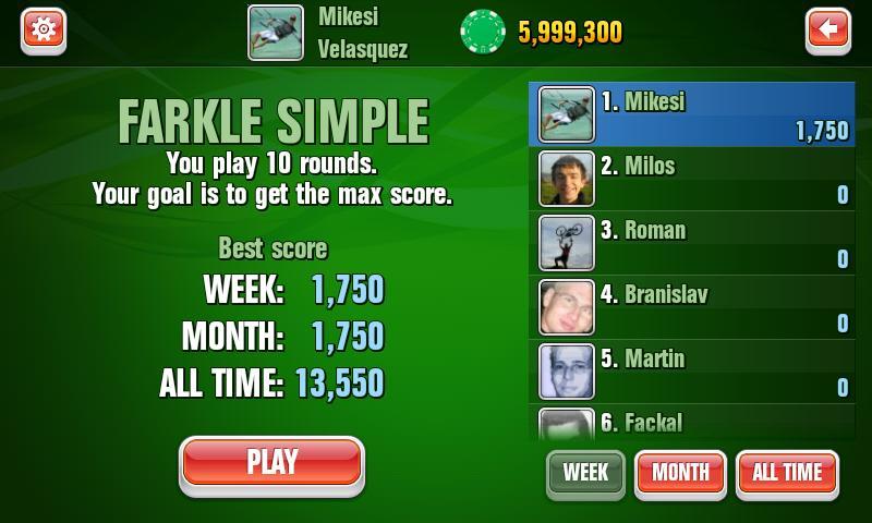 Farkle Dice Facebook Game