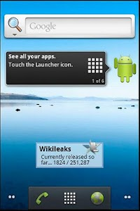 Wikileaks Widget screenshot 0