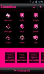 Pink Socialize for Facebook screenshot 2