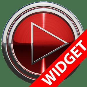 download Poweramp widget - RED PLATIN apk