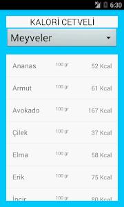 Kalori-Glisemik İndeks Cetveli screenshot 1