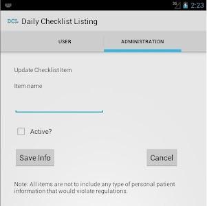 YPMM - Patient Room Checklist screenshot 1