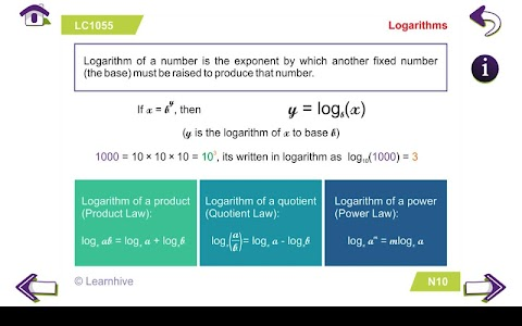 Grade 10 Math Learning Cards screenshot 2