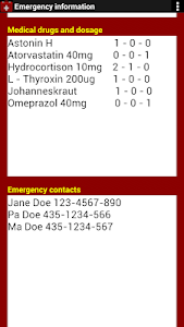 Emergency Information screenshot 4