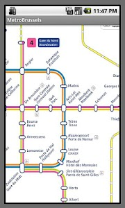 Brussels Metro Map screenshot 0