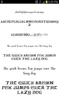 Goth Fonts for FlipFont free screenshot 03