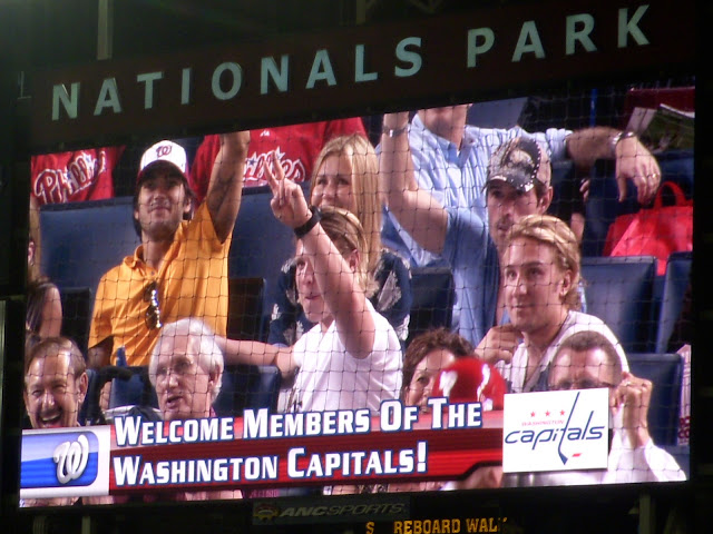 Caps at a Nats Game