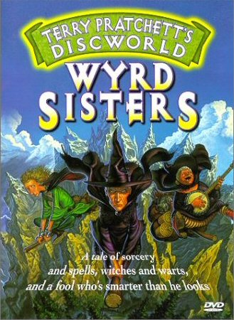 Cover art for DVD of Wyrd Sisters