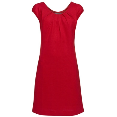 Red Linen Shift Summer Dress by TU at Sainsbury's