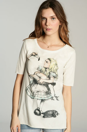 Retro Alice in Wonderland T-shirt by Truly Madly Deeply at Urban Outfitter