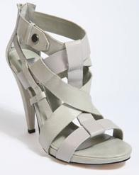 Light Grey Multi-Strap Leather Heeled Peeptoe Sandals by Dolce Vita at Urban Outfitters