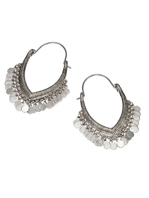Indian Princess Silver Hoop Earrings by Accessorize