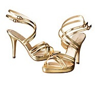 Gold strappy sandals by H&M