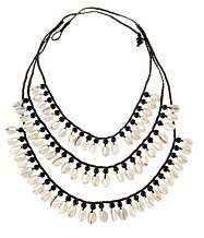 Three-strand shell necklace by H&M