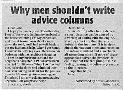Why men shouldn't
