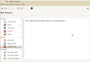 ubuntuone music store screenshot