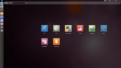 Unity home screen screenshot ubuntu 10.10