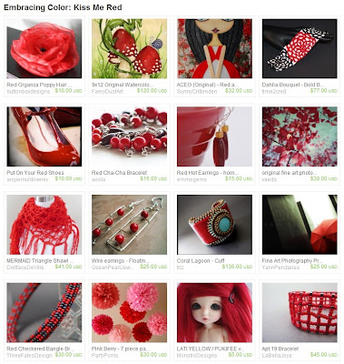 Etsy Picks: Kiss Me Red