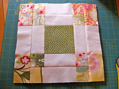 Disappearing 9-patch variation quilt block