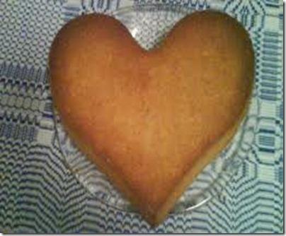 hjärtformad sockerkaka