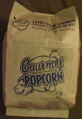 bag of gourmet microwave popcorn