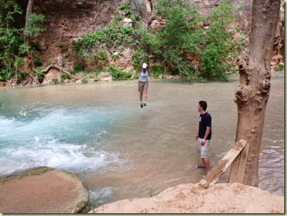 06 Lady swinging over Havasu Creek Havasupai Indian Reservation AZ (1024x766)