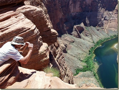 Mike photographing Horseshoe Bend Page Arizona