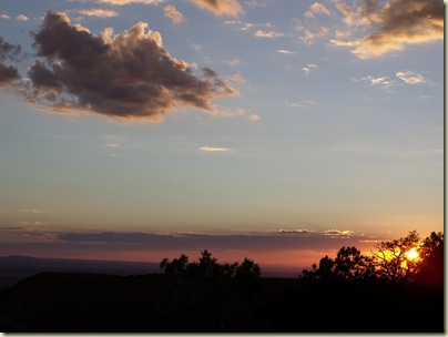 Sunset over canyon from Crazy Jug Point Kaibab National Forest Arizona
