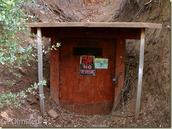 Buzzard Load claim mine shaft opening Placerita Arizona