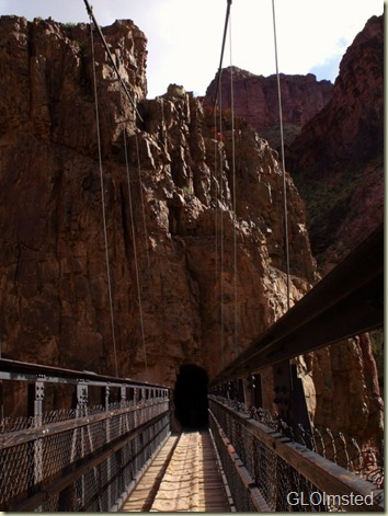 Tunnel at South end of Black Bridge Grand Canyon National Park Arizona
