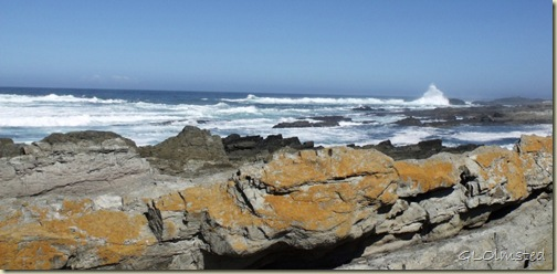 Waves crashing Indian Ocean Tsitsikamma National Park Stormsriver Mouth Eastern Cape South Africa