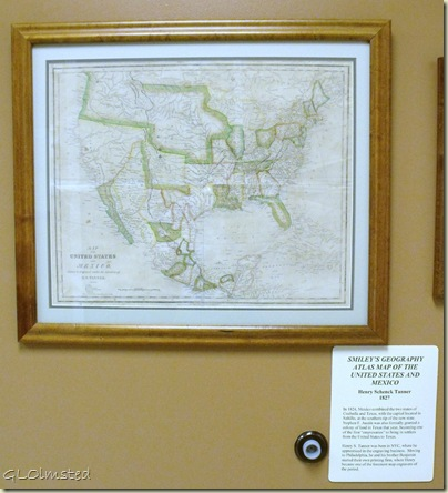 US & Mexico map 1887 Museum of the Big Bend Alpine Texas