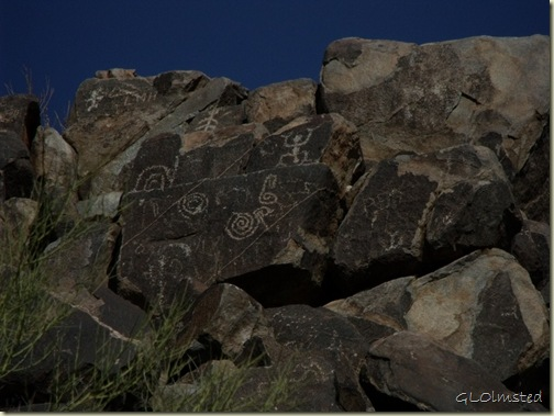Petroglyphs Signal Hill trail Saguaro National Park Arizona