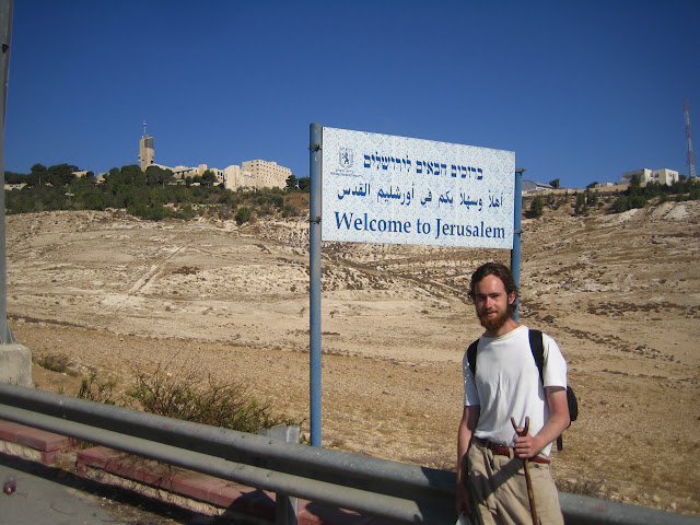 Richard, stick and Jerusalem. The end of our pilgrimage