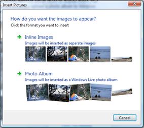 image thumbnail in windows live writer