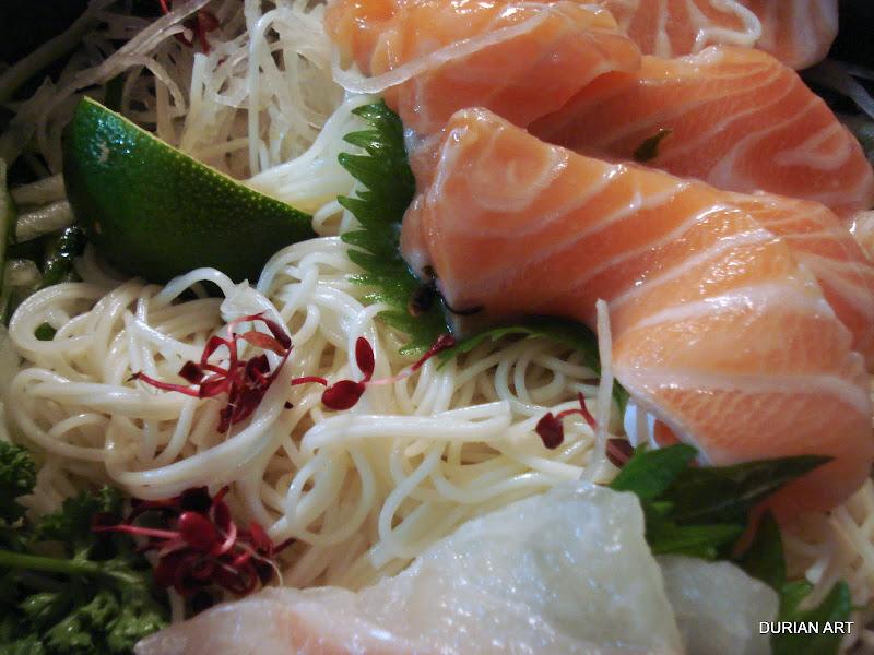 Sashimi sudachi somen