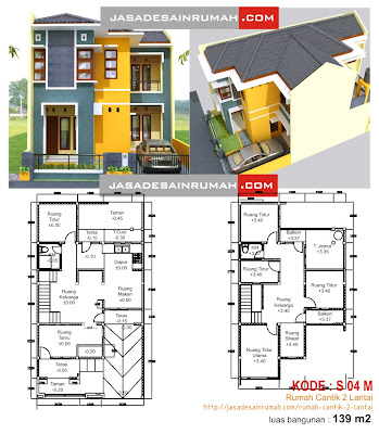 Rumah Cantik 2 Lantai Jasa Desain Rumah
